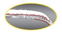 Absorbing rubber gum strip
